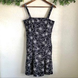 Dressbarn Floral Black and White dress
